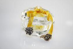 Scatolina in cristallo con ciondoli a cornucopia
