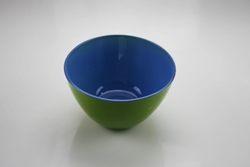 Coppetta in vetro verde e blu