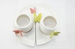 Set 2 tazze in porcellana