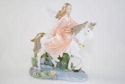 Fata con unicorno - porcellana