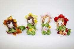 Folletta dentro fiore - porcellana