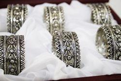 Set 6 anelli per tovaglioli - argento sheffield