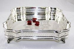 Vassoio quadrato - argento sheffield