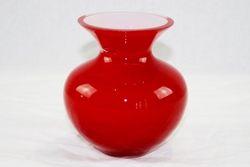 Vaso oboe in cristallo rosso