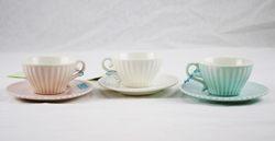 Tazza da caffè con piatto - disponibile in vari colori