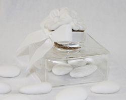 Scatola in vetro con tappo in sughero decorato