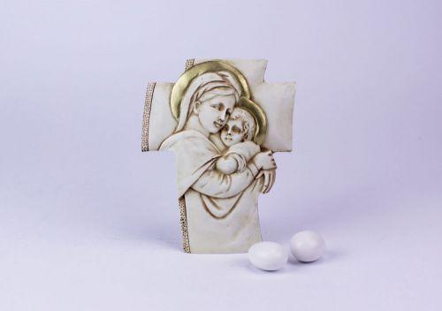 Crocifisso con Madonna e Bambino bomboniera