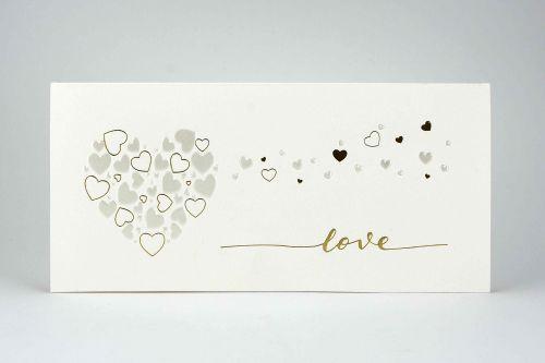 Partecipazione con cuore e cuoricini Love