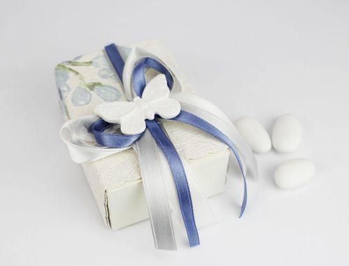 Scatolina porta confetti farfalla bomboniera per Nozze