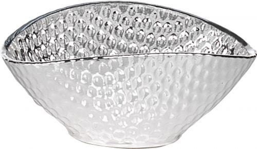Ciotola POCHETTE in argento e vetro matrimonio - Argenesi