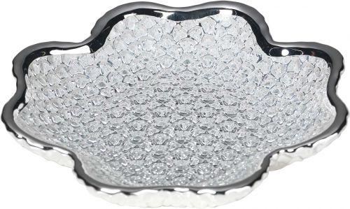 Piatto DIAMANTE in vetro e argento - Argenesi