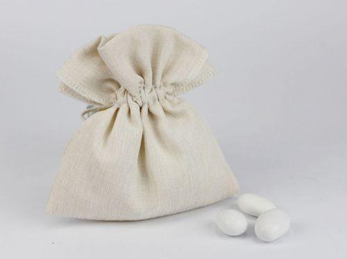Sacchettino porta confetti avorio matrimonio / comunione - Margot