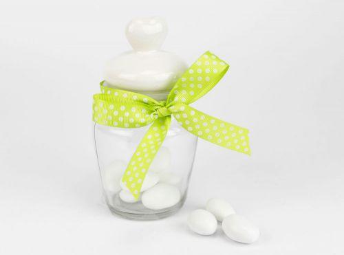 Barattolo portaconfetti con tappo in porcellana - bomboniere