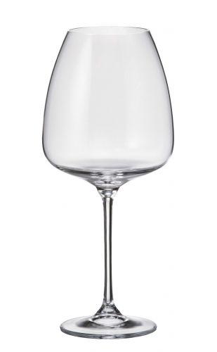 Set 6 bicchieri vino rosso Alizee in cristallo Bohemia