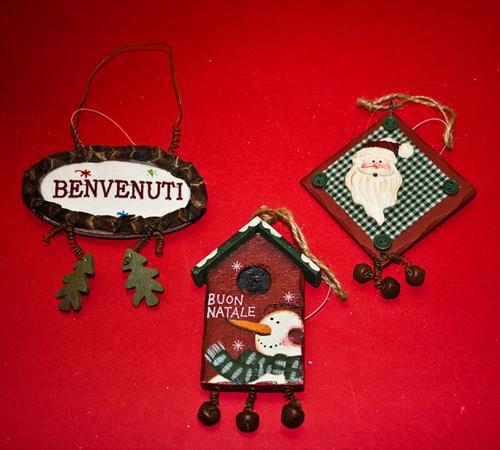 Decori natalizi a campanella - vari modelli