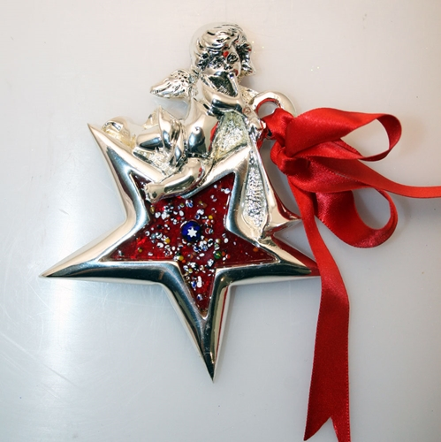 Decorazione natalizia - stella con angelo