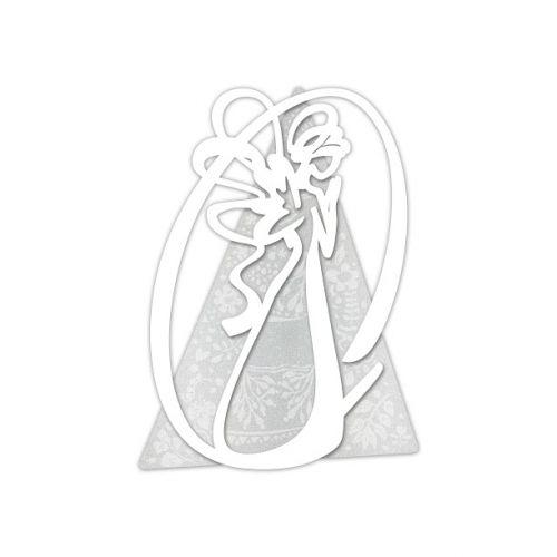 Capezzale moderno tema sacro con angelo stilizzato - Laser Art Style
