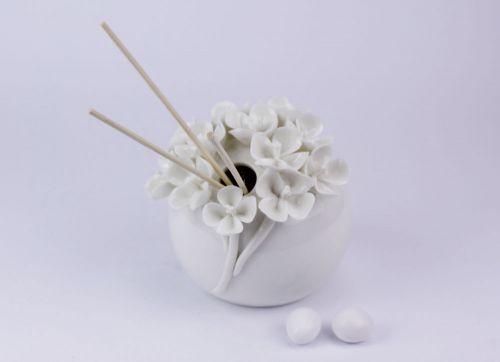 Profumatore d'ambiente decoro Fiori in porcellana bomboniera matrimonio