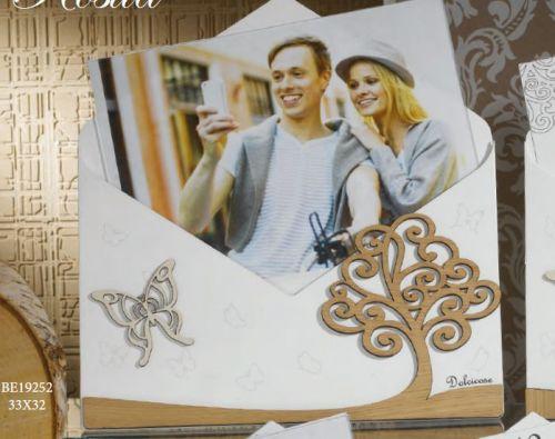 Porta foto con Albero della Vita in legno - Rosita