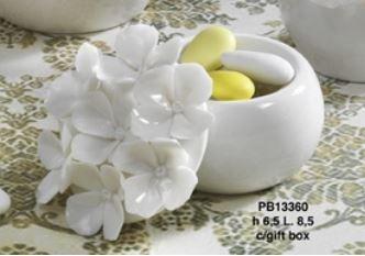 Scatolina fiori bianca - Mandorle