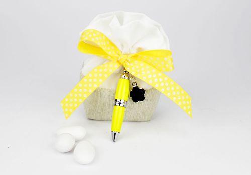 Sacchettini portaconfetti con penna - bomboniera matrimonio / laurea Margot Italia