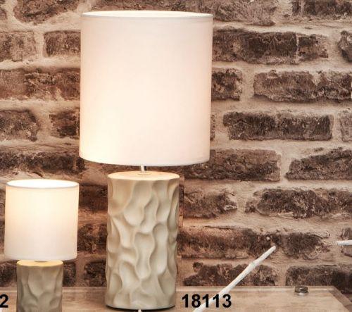 Lampada con base in ceramica tortora