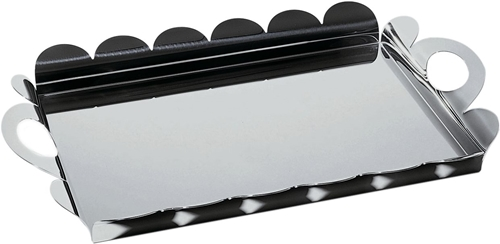 Vassoio rettangolare con manici in acciaio cm.45X30 Alessi