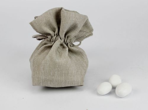 Sacchetto portaconfetti tortora matrimonio / comunione - Margot
