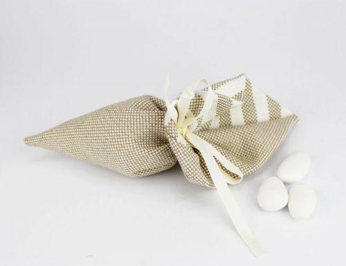 Sacchetto porta confetti cono righe linea ISCHIA - per Matrimonio o 11°Comunione