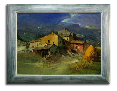 Tela - Borgo antico di Mario Tosi - olio su tela