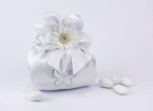 Sacchetto confetti in seta farfalla Gioia
