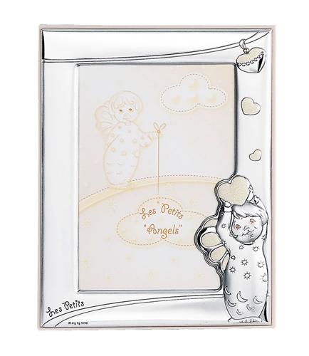 Cornice portafoto con angioletti e cuoricini - 9x13 cm