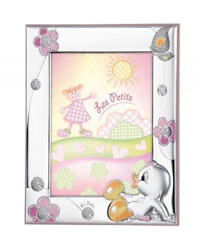 Cornice portafoto con anatroccolo e margherite in rosa - 9x13 cm
