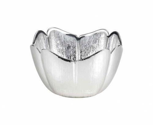Ciotola in vetro e argento TULIPANO - Argenesi