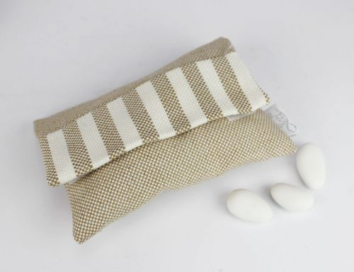 Sacchetto portaconfetti righe linea ISCHIA - bomboniera  per matrimonio o prima comunione