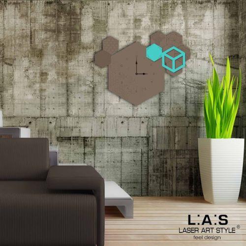 Orologio da parete con figure geometriche - Laser Art Style