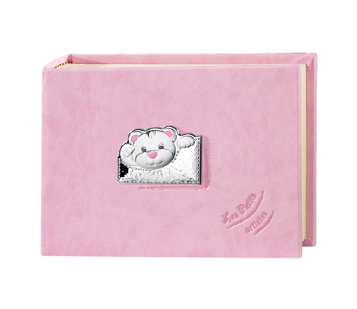 Album portafotografie con orsetto in rosa - 15x20cm