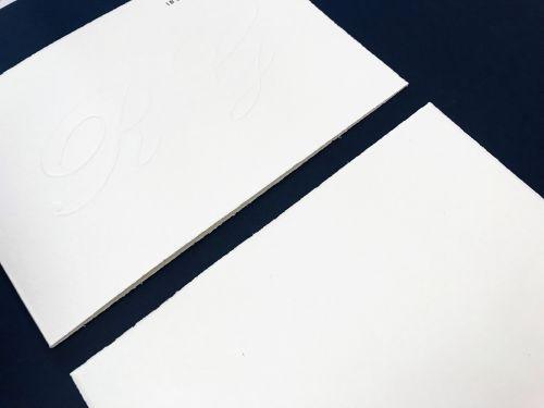 Partecipazione album semplice carta avorio ruvida