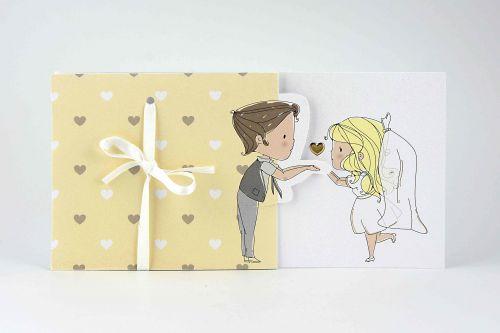 Partecipazione sposi fumetto