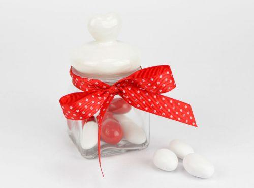 Contenitore vetro per confetti - bomboniere