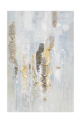 Quadro astratto materico color ghiaccio -L'Oca Nera