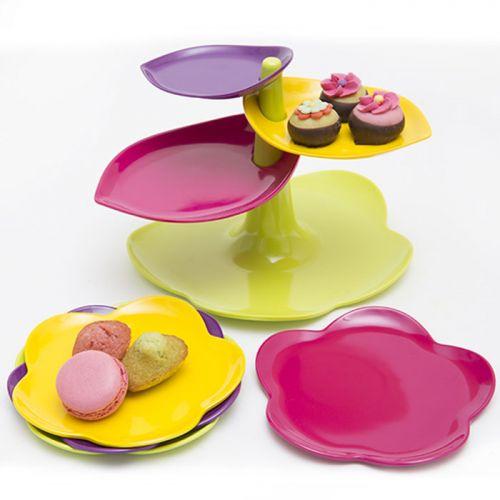 Alzatina Foglie con set piatti   ZAK! Designs