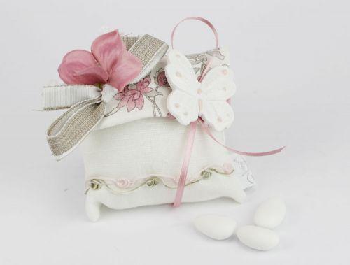 Cuscinetto confetti nozze farfalla Linea Fior di Loto