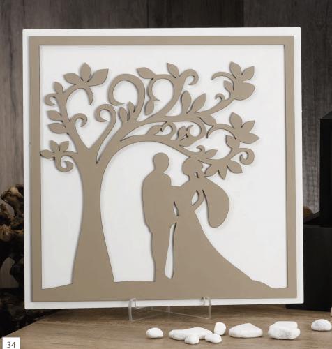 Quadro con albero e sposi Nala