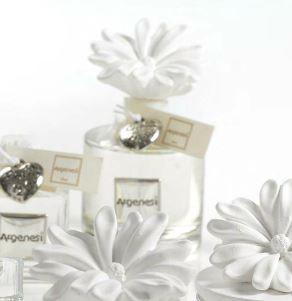 Profumatore ANEMONE in resina e argento - Bomboniere Argenesi