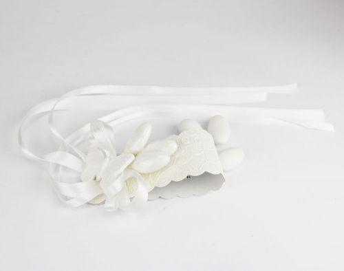 Porta Tovagliolo Segnaposto con 3 confetti farfalla bomboniera Nozze