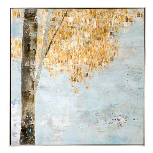 Quadro Acrilico su tela con cornice scorcio albero - L'Oca Nera