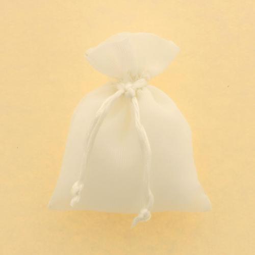 Sacchetto porta confetti in tela bianca