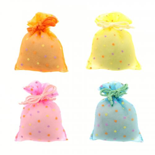 Sacchetto porta confetti piccolo pois in organza