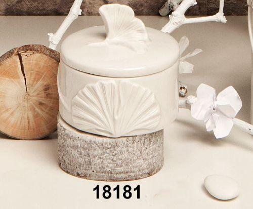 Scatolina in ceramica bianca
